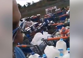 Walmart responds to viral video of food being...