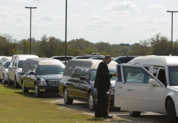 Funeral held for 9 members of same family...